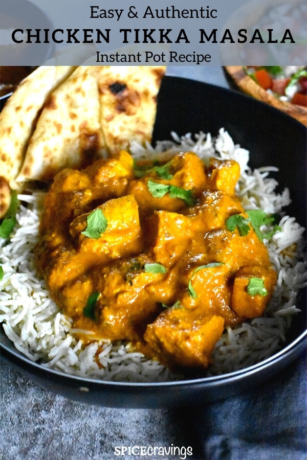 Instant Pot Chicken Tikka Masala Spice Cravings