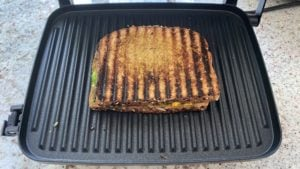 bombay toastie grilled on panini press