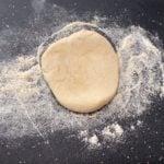 bhatura dough on lightly floured surface