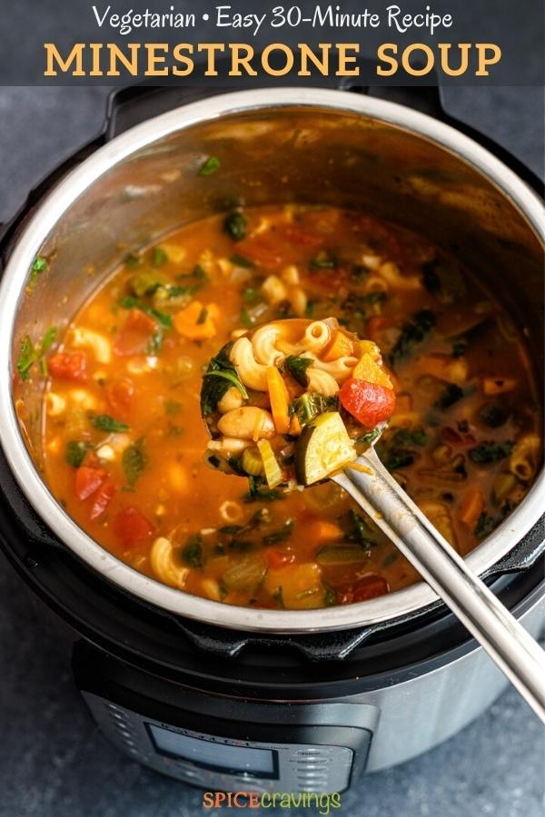 vegetarian Italian soup in instant pot