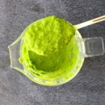 smooth cilantro sauce in blender