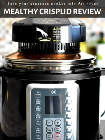 Image of instant pot with air fryer lid