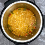 Pasta cooking in a pressure cooker