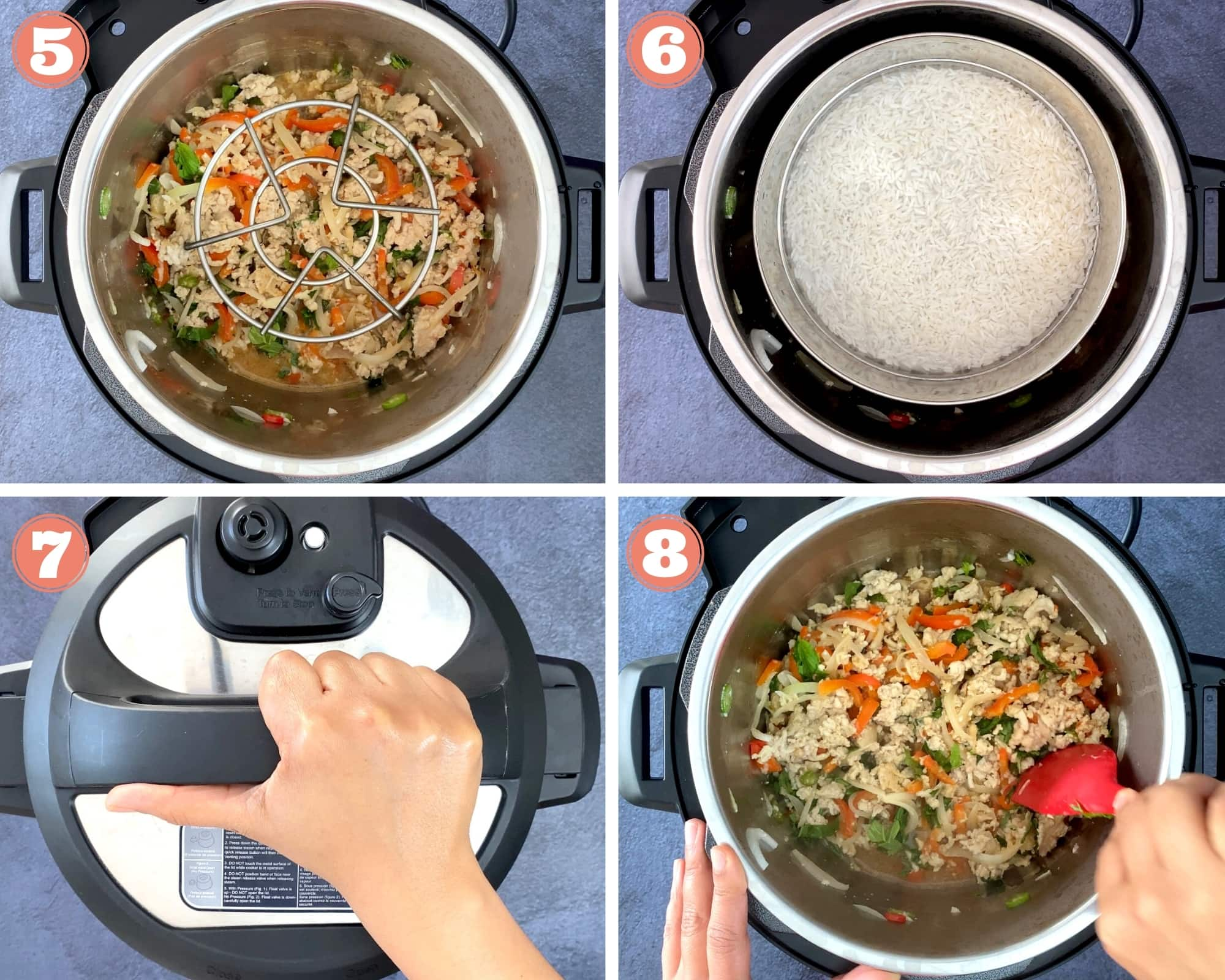 Instructions for Thai basil chicken