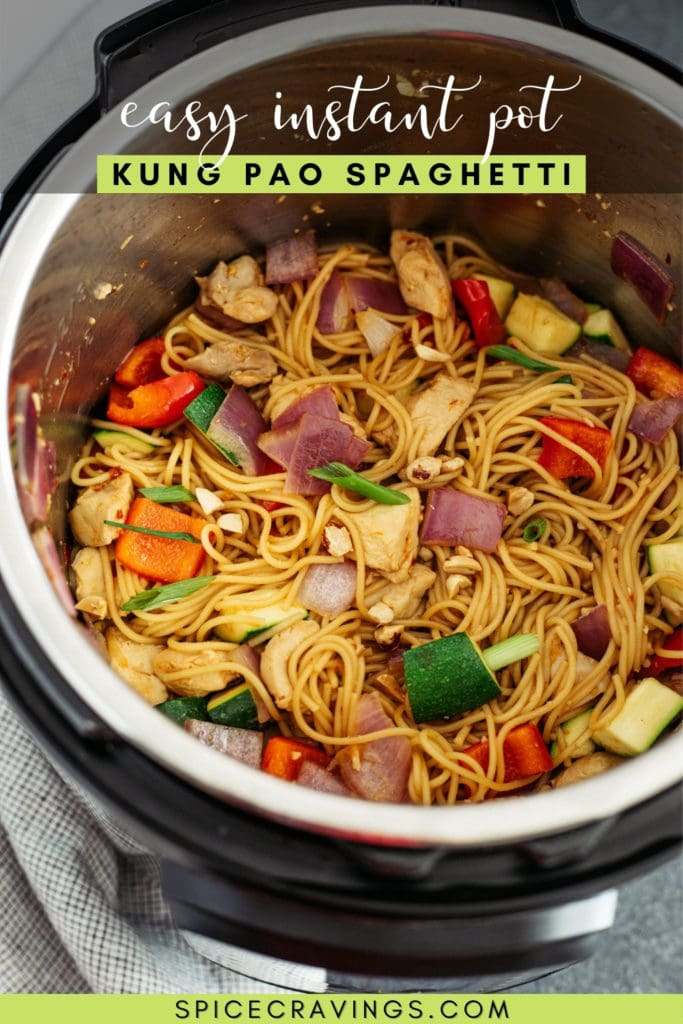 Kung Pao Spaghetti in an Instant Pot