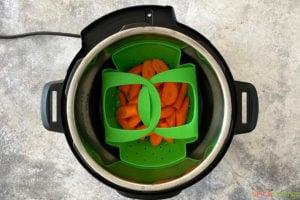 Carrots inside an Instant Pot