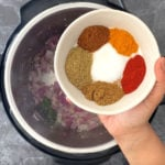 Indian spices including salt, turmeric, red chili, cumin and garam masala