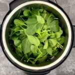 Baby spinach in the Instant Pot
