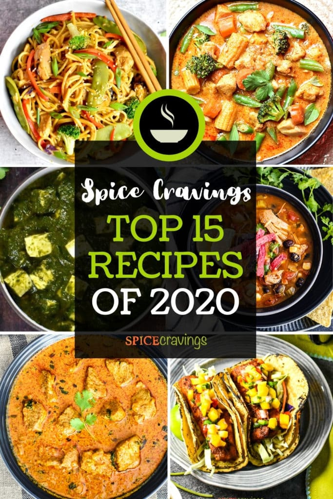 6-photo collage showing top recipes of 2020
