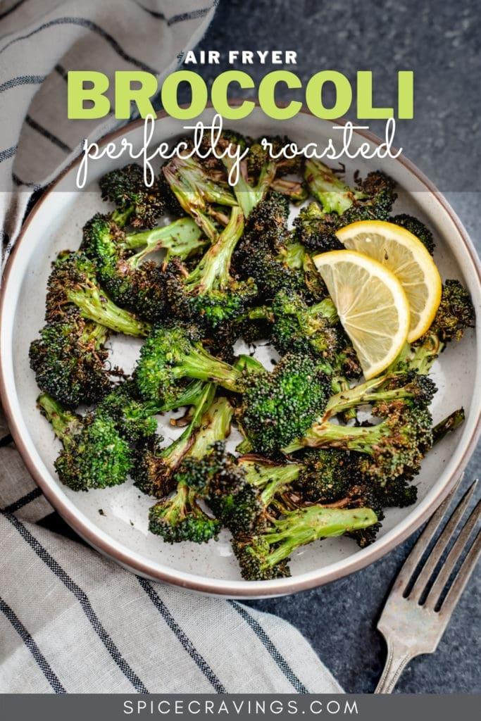 Roasted broccoli with lemon slices