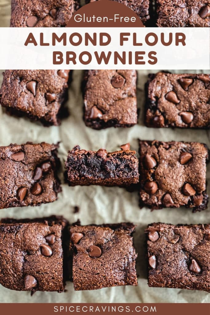 Squares of gluten-free brownies