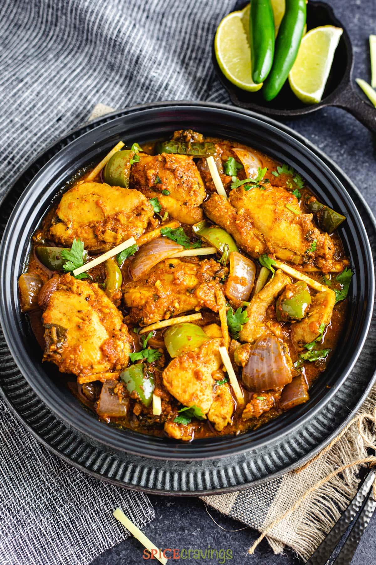 Chicken Karahi in a bowl