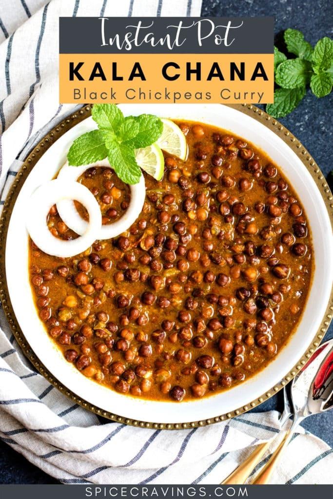 Kala Chana Curry in a bowl