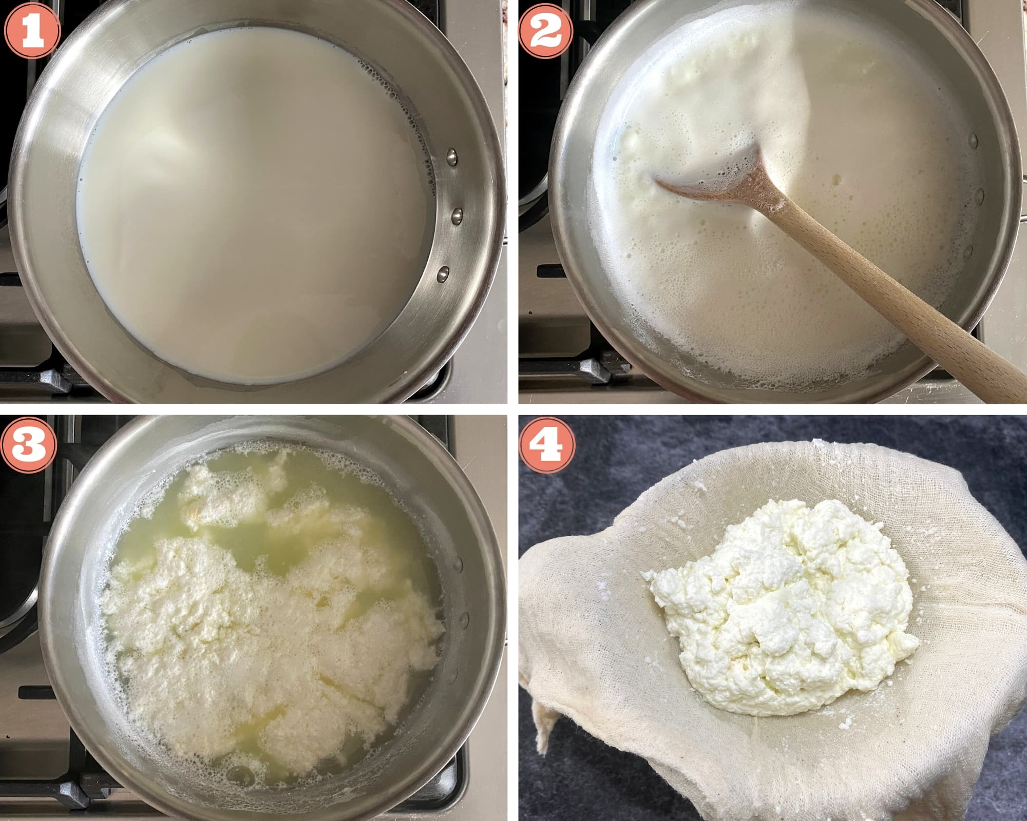 How To Make Paneer on the stove top