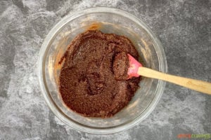 Batter for gluten free brownies in a bowl