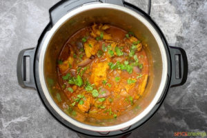 Curry inside Instant Pot