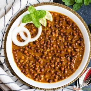 Kala Chana is a white bowl