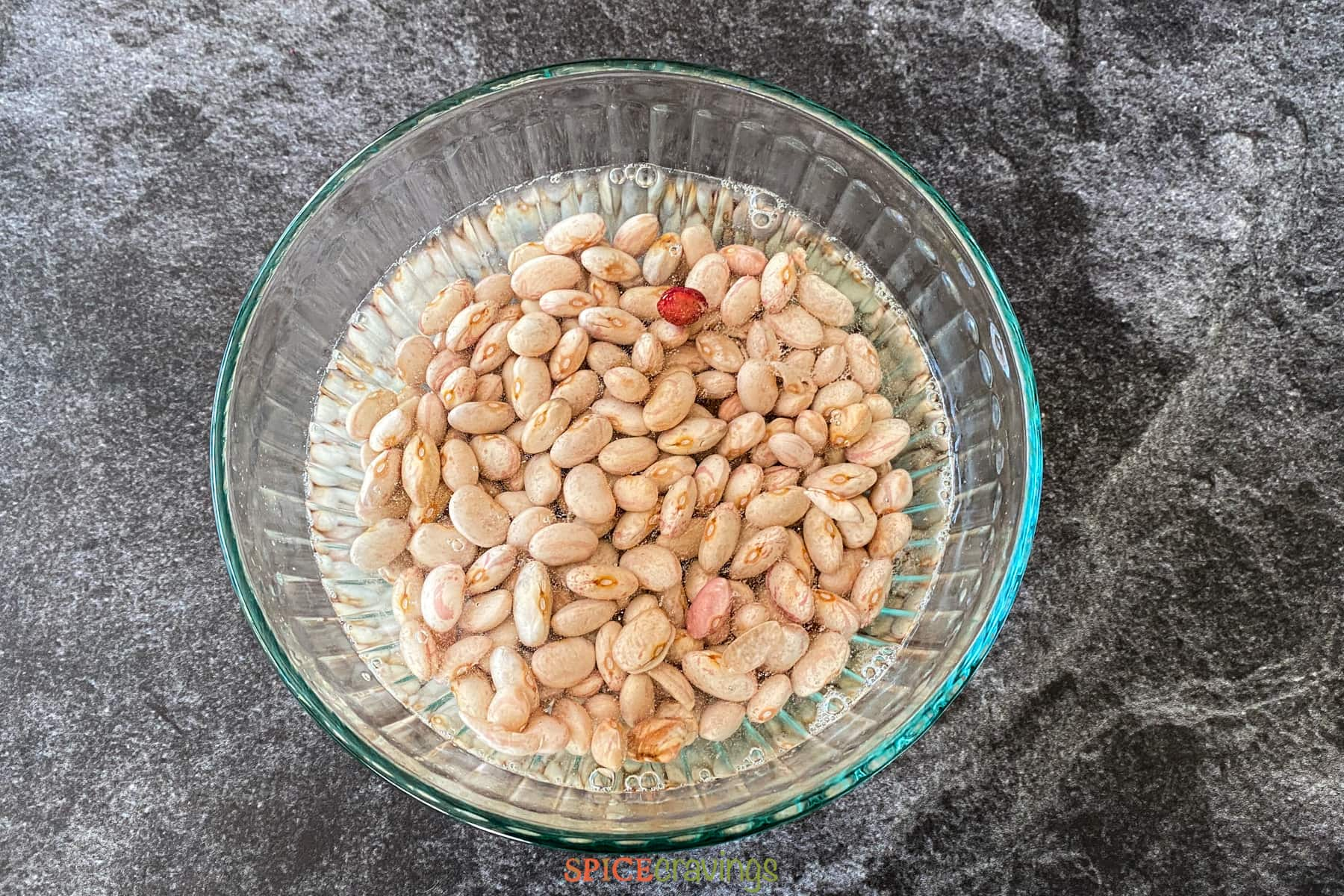 Rinsing and soaking pinto beans
