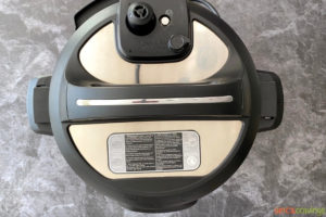 Lid closed on an Instant Pot