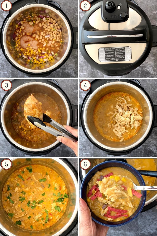 Steps for making white bean chicken chili