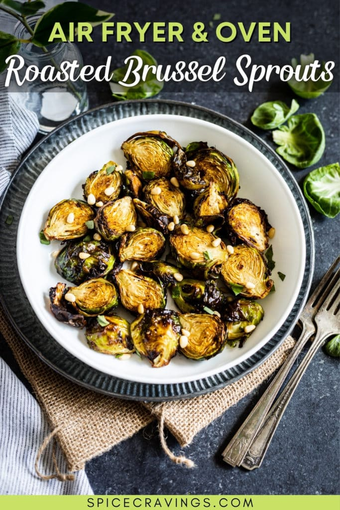 Air Fryer Balsamic Brussel Sprouts