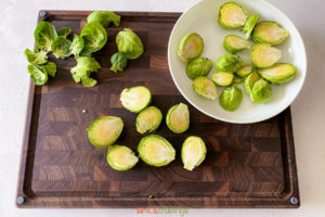Chopped brussel sprouts