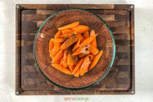 Sliced carrots in bowl