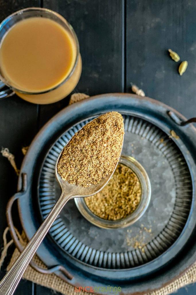 chai masala powder from above