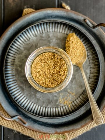 chai masala powder from above