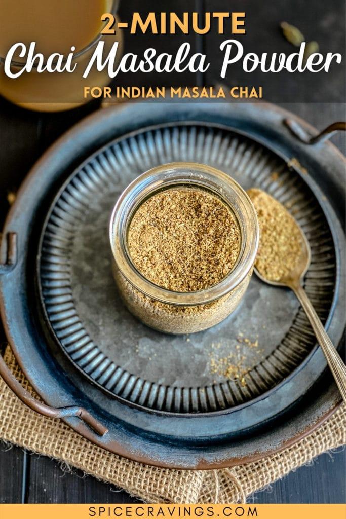 chai masala powder image from above