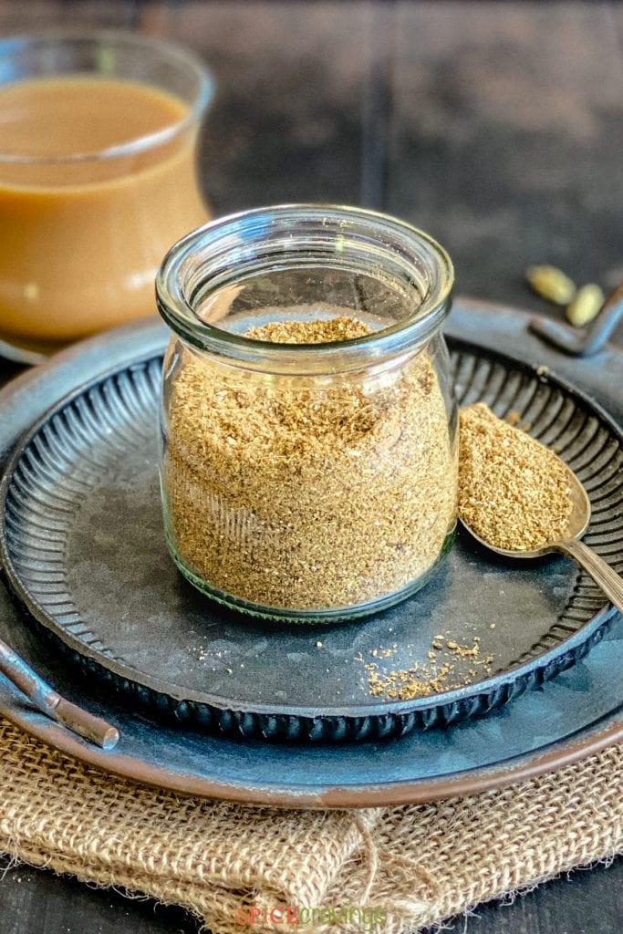 masala chai powder in container
