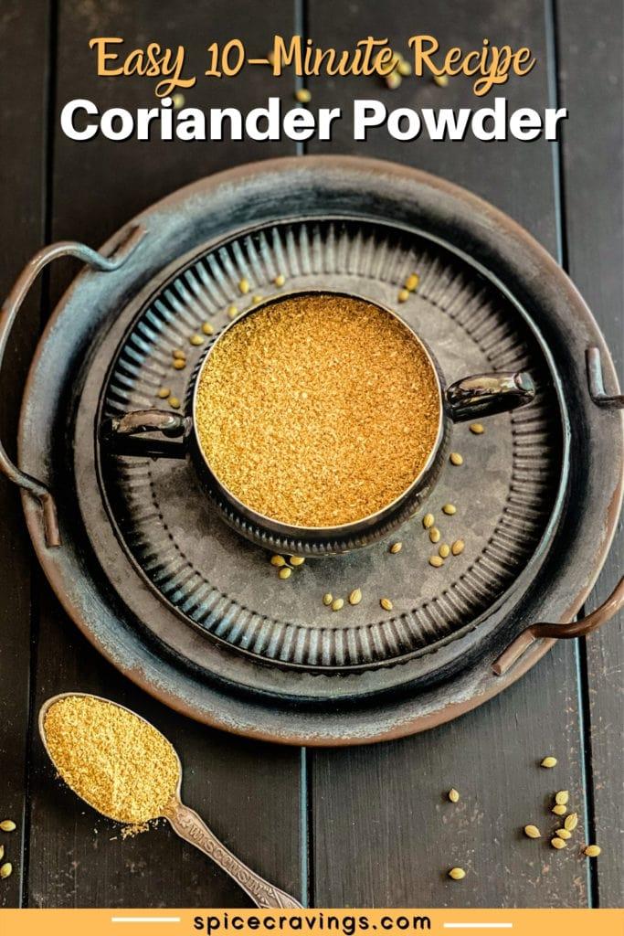coriander powder in bowl