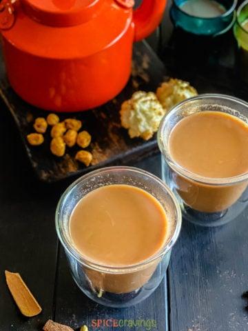 masala chai product shot