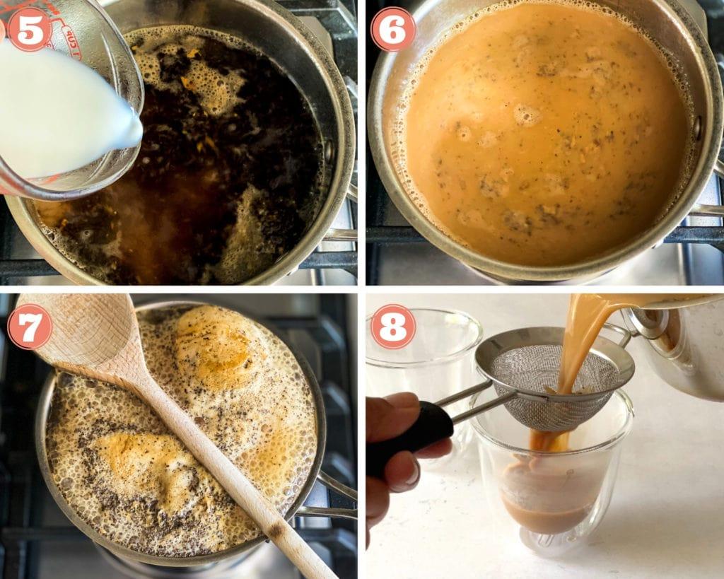 Masala chai process image