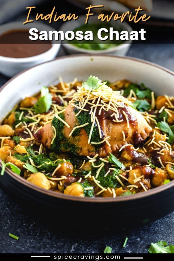 samosa chaat recipe in bowl