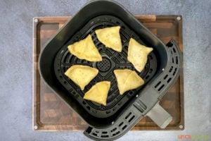 homemade samosas in air fryer