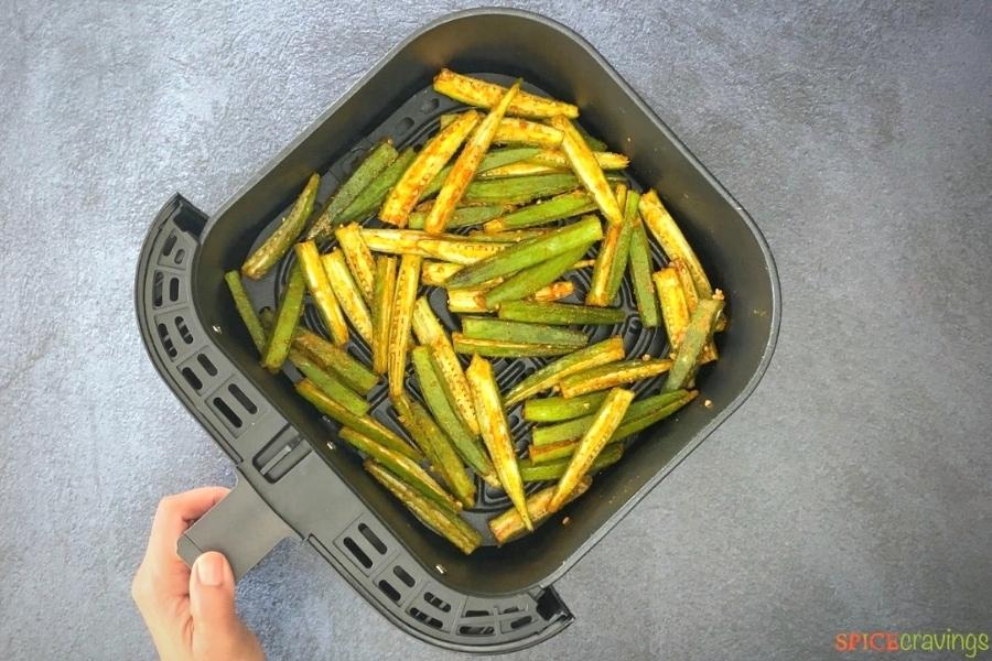 seasoned okra fries in air fryer