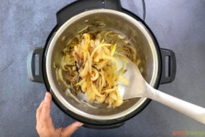 Caramelizing onions in instant pot to make biryani