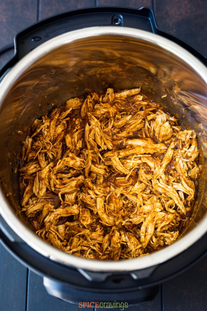 shredded chicken with salsa in instant pot insert