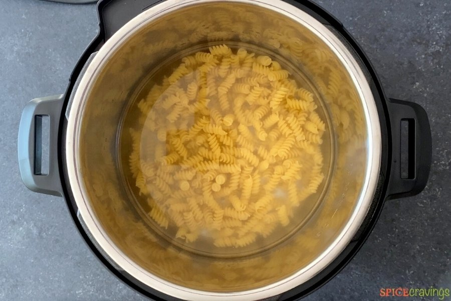 cooked pasta in instant pot