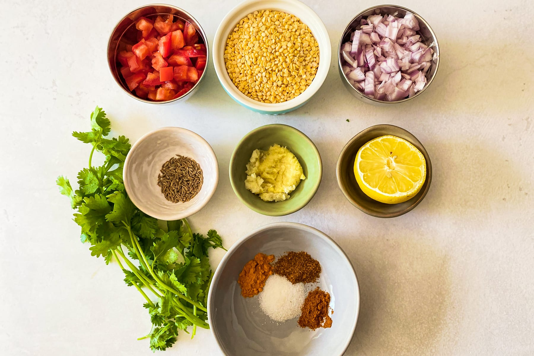 ingredients for moong dal