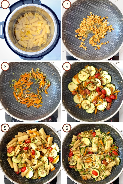 summer pasta salad in six steps