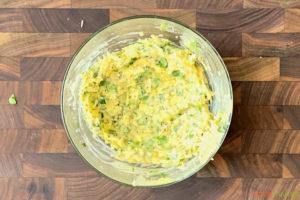 homemade garlic butter in a mixing bowl