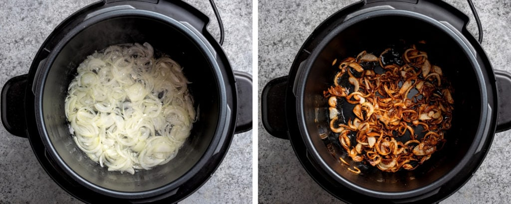 Caramelizing onions in instant pot