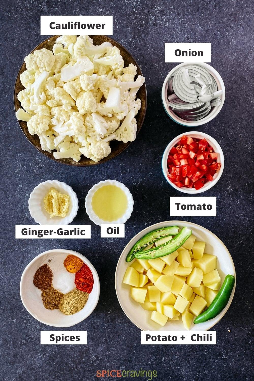 ingredients for air fryer aloo gobi