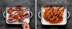 two step grid coating lamb chops with marinade
