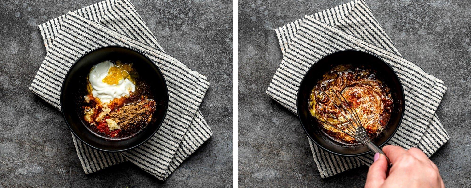 two step grid preparing marinade